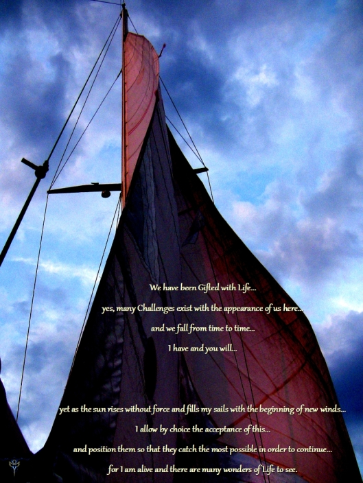 Pic taken at sea while sailing alone to Bermuda in June of 2011.  Words written this morning, January 23, 2014 by Greg Frucci